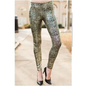 Adrienne Pants - Gold and Black Leggings