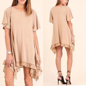 Umgee Dresses & Skirts - Short Sleeve Layered Flare Dress