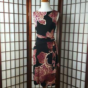 Cache Dresses & Skirts - Cache Floral Lined Sheath Dress Size M