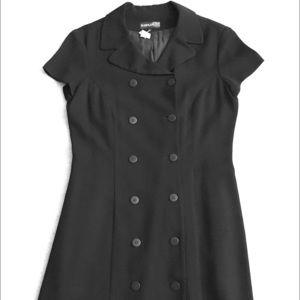 Classic black power dress