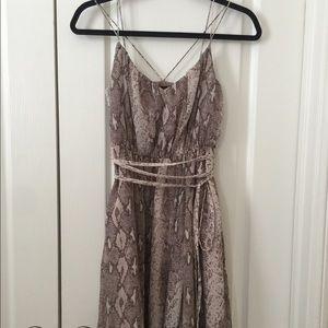 Banana Republic snakeskin-print silk wrap dress