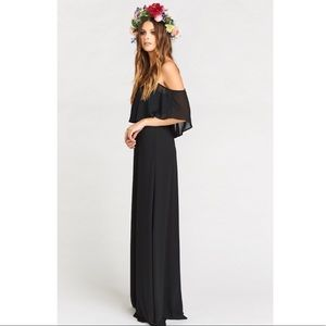 Show Me Your MuMu Dresses & Skirts - NWOT show me your mumu caitlin ruffle maxi black