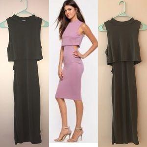 Dresses & Skirts - Olive green bodycon dress