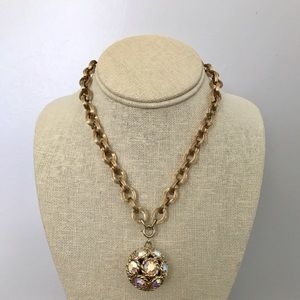 Vintage Jewelry - Vintage disco mirror ball necklace & earrings
