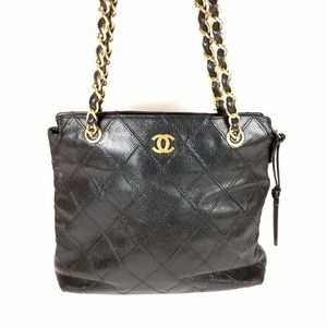 CHANEL Handbags - Chanel Quilted Caviar Leather Tote