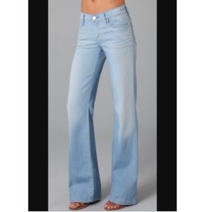 Goldsign Denim - GOLDSIGN Fancy Wide Leg Acid Wash Jeans 25