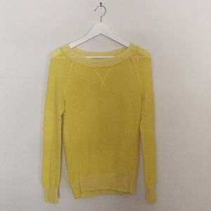 GAP yellow pullover sweater