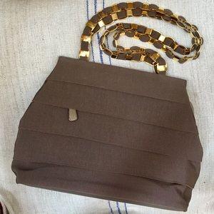 Salvatore Ferragamo Handbags - SALVATORE FERRAGAMO Ribbon Fabric and Leather Bag