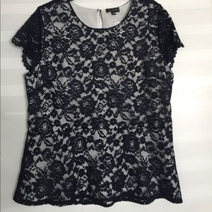 The Limited Tops - Lace Peplum Top