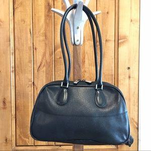 Furla Handbags - Authentic FURLA black bowler bag, Italy