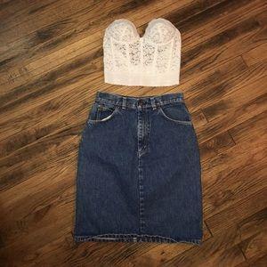 Levi's Dresses & Skirts - Vintage high waisted Levi's denim skirt