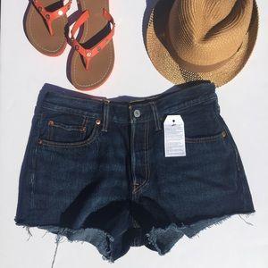 Levi's Pants - Levi's 501 Cut Off Jean Shorts Dark Blue 27,30 NEW