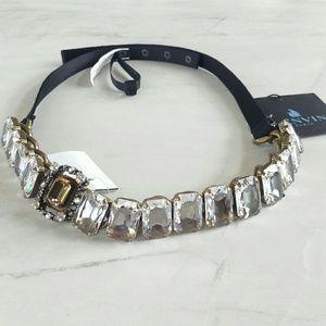 Lanvin Accessories - LANVIN crystal embellished crossgrain belt