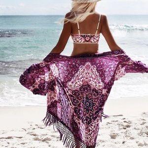 ✨RESTOCKED! Boho Paisley Kimono Beach Coverup✨