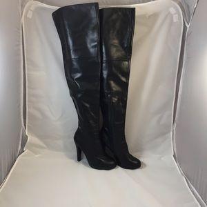 Colin Stuart Shoes - Colin Stuart Thigh High Black Boots Size 7.5B