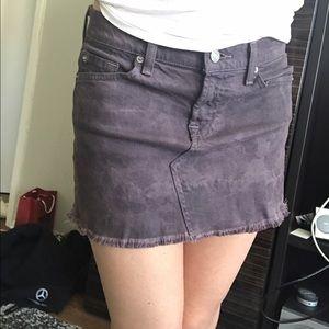 7 For All Mankind jean skirt denim 25 shorts