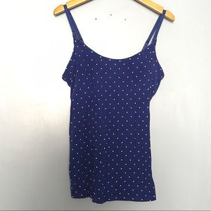 Motherhood Tops - Polka Dot Nursing Tank Top