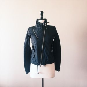 Hogan Jackets & Blazers - HOGAN // nylon moto jacket