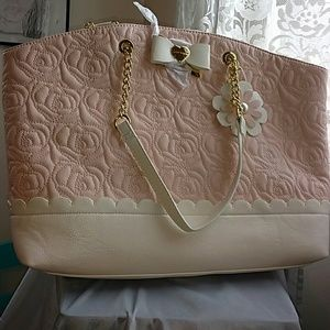 Betsey Johnson Handbags - Rose quilted betsey johnson tote