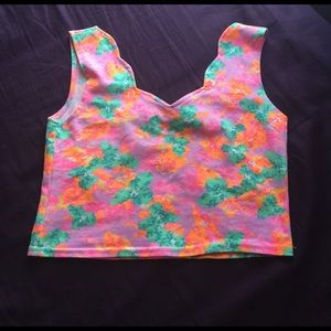 Awesome neon crop top