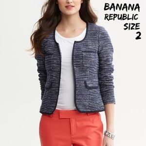 Banana Republic Jackets & Blazers - Banana Republic Texture Knit Lady Jacket size 2