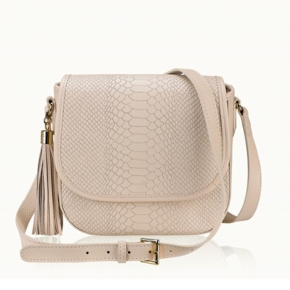 GiGi New York Bags - Gigi New York Bone Kelly python embossed leather