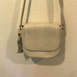 GiGi New York Bags - Gigi New York Bone Kelly python embossed leather