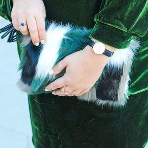 Vera Bradley Bags - Vera Bradley Faux Fur Clutch!