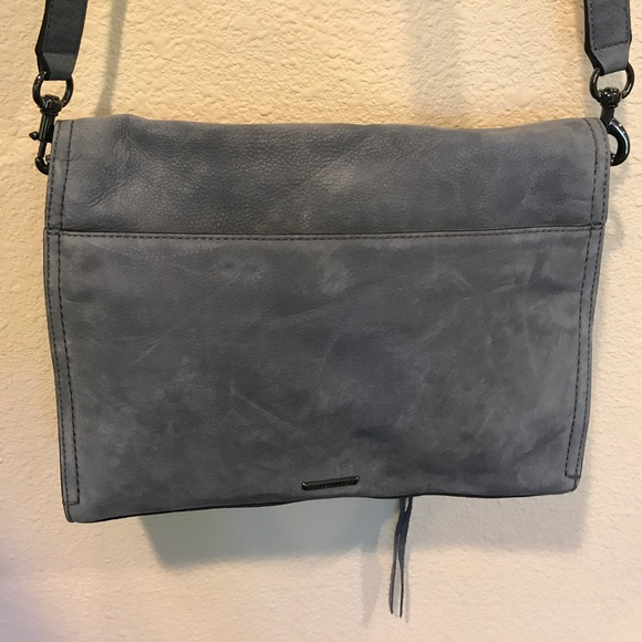 Rebecca Minkoff Bags - NWOT Rebecca Minkoff blue suede crossbody bag