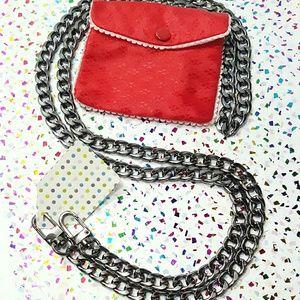 ⤵⤵ Italian Curb Design Purse Titanium Chain Strap