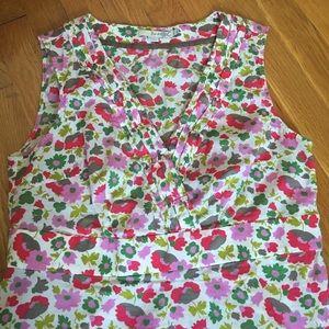 Boden sleeveless floral top
