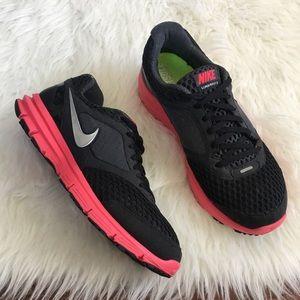 Nike Shoes - Nike Black & Pink Lunar Fly 2 Running Sneakers