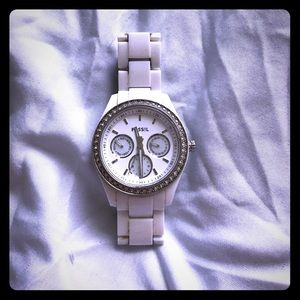 Accessories - White fossil watch