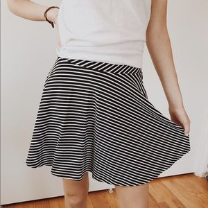 Dresses & Skirts - Black and white striped skirt