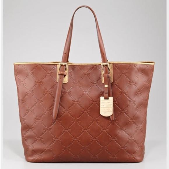 Longchamp Bags   Lm Cuir Large Tote Bag Oak Brown   Poshmark 27dfbbdf16