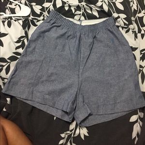 AA Chambray High Waist Shorts