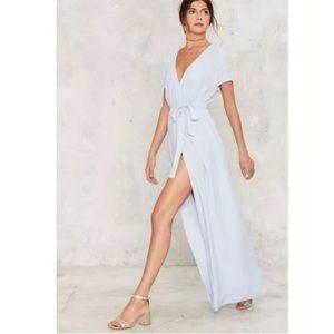 62949203cec Nasty Gal Dresses - 🆕Nasty Gal Light Blue Wrap Maxi Dress