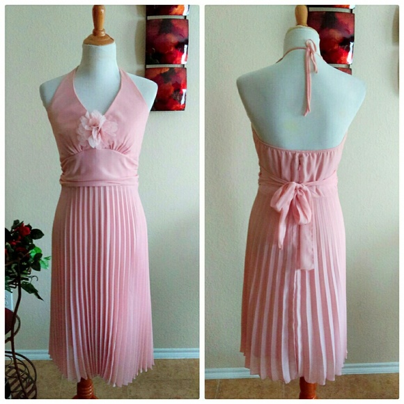 Rabbit Rabbit Rabbit Designs Dresses - ⬇Blush Pink Retro Evening Dress