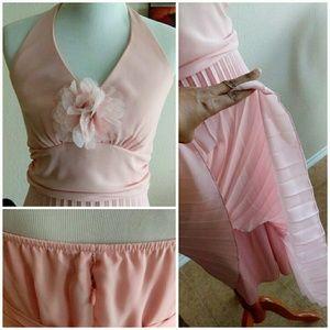 Rabbit Rabbit Rabbit Designs Dresses - ⬇Blush Pink Retro Evening Dress