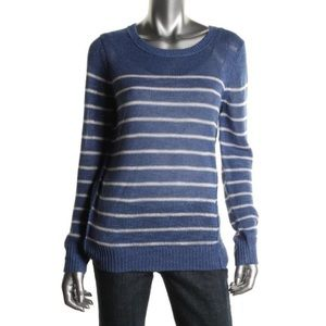 360 Sweater Sweaters - 360 Sweater Knit Striped Linen Pullover