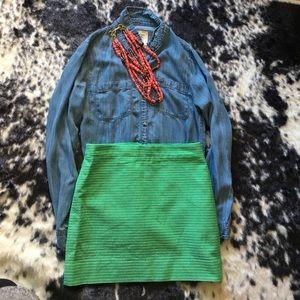 Green Jcrew Mini Skirt