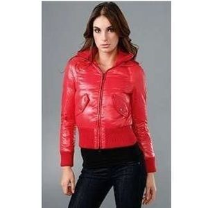 Add Down Jackets & Blazers - ADD Down Puffy Red Zip Up Jacket