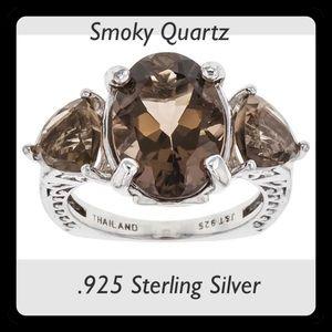 30% OFF BUNDLES✨Smoky Quartz & .925 SSilver Ring✨