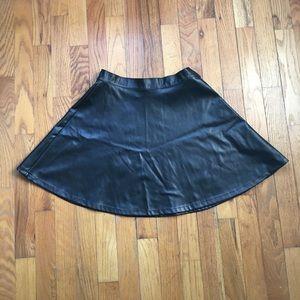 American Apparel Vegan Leather Skater Skirt