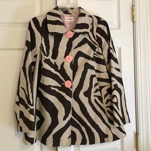 Jackets & Blazers - Animal print swing coat