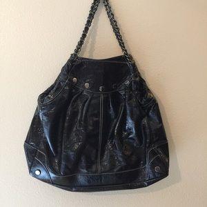 Rampage Handbags - EUC Black Rampage Shoulder Bag With Chain Handles