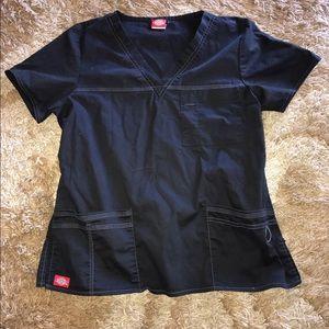Dickies Tops - Black Scrub Top