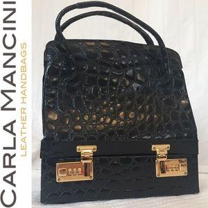 Carla Mancini Handbags - RARE Vintage✨ Mallete Style Carla Mancini Handbag