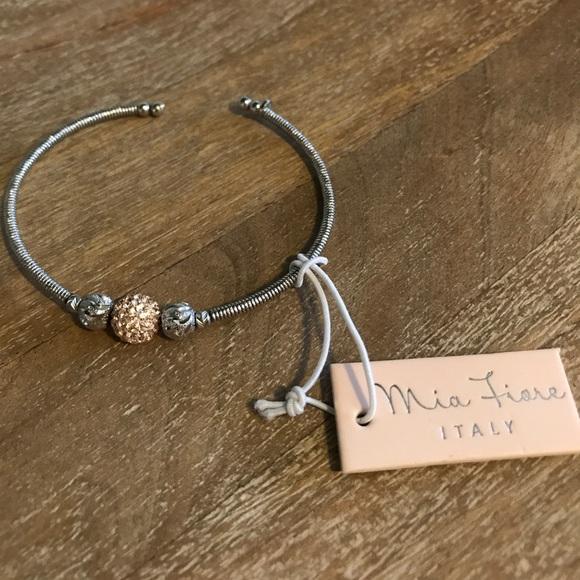 mia fiore Jewelry Crystal Cuff Bracelet Poshmark