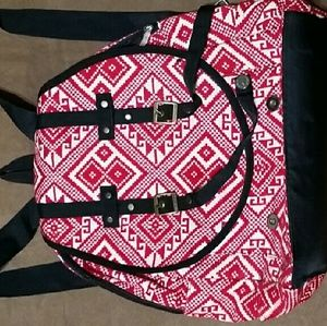 Other - Printed red backpack